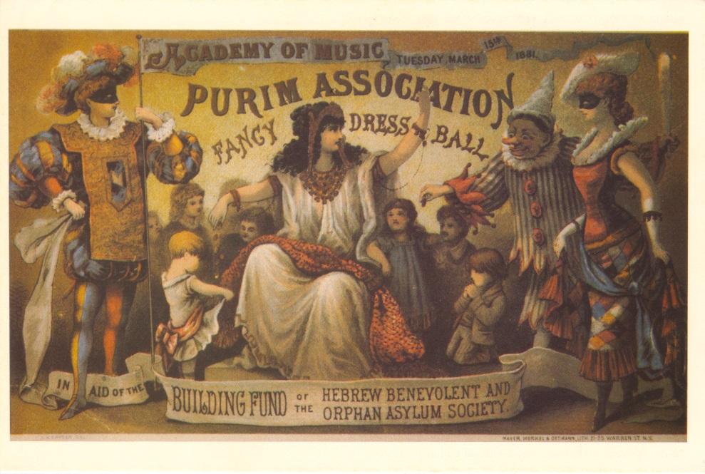 Fancy Dress Ball Poster, Purim, 1881