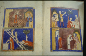 Page From The Rothschild Haggadah Italy 1450